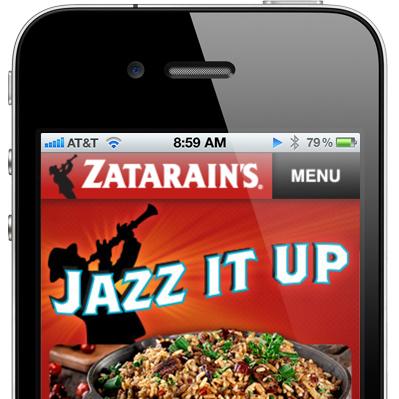 Zatatarain's Mobile Site